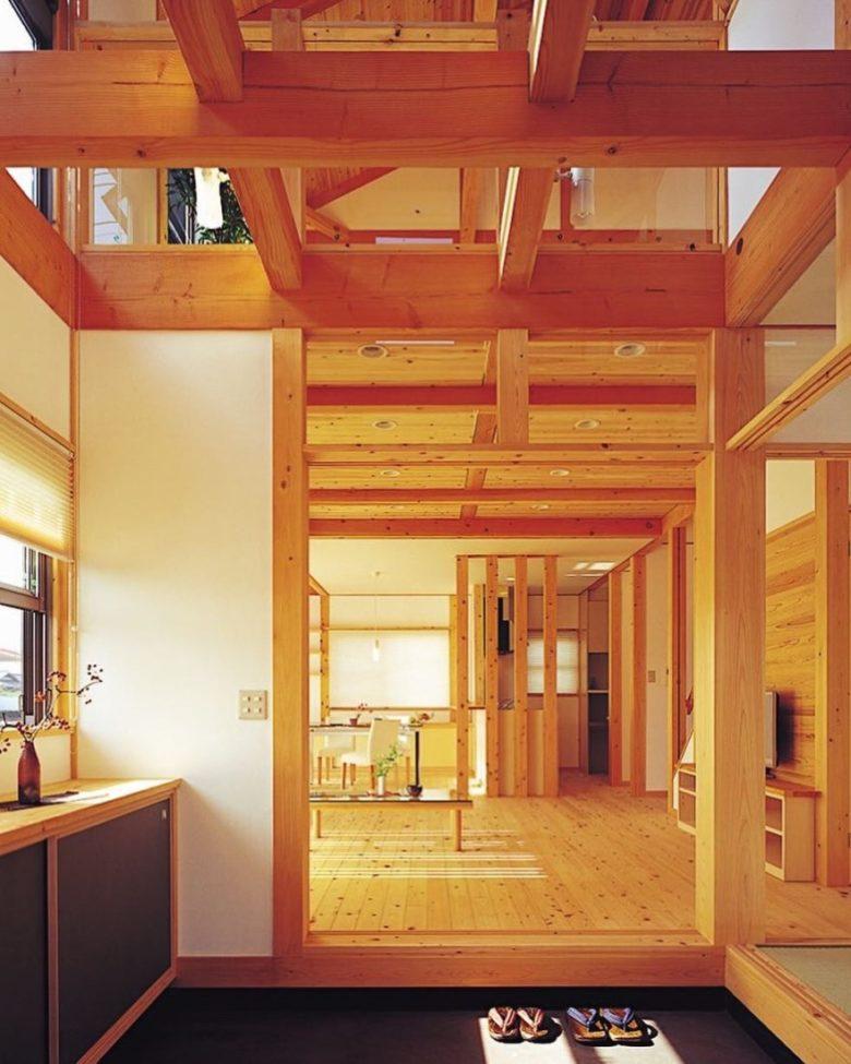 本物の木の家