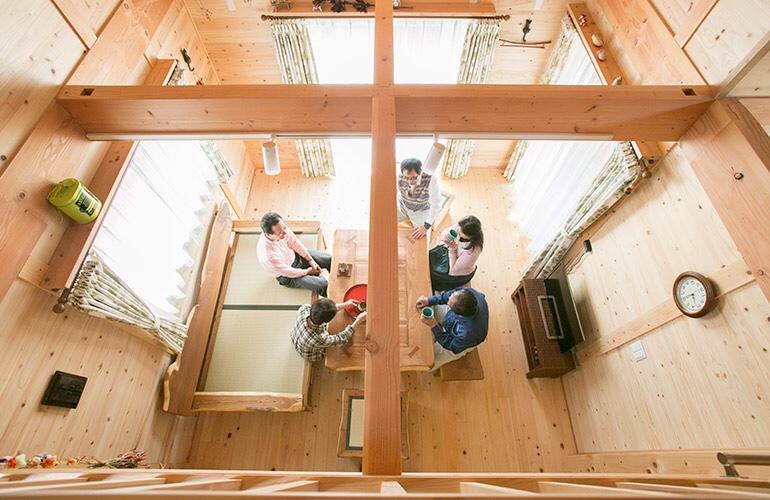 民家の知恵から学んだ木構造の家..雨楽な家..