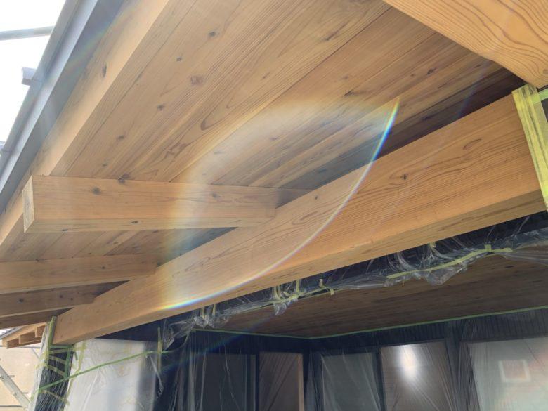 外部木部塗装・階段造作