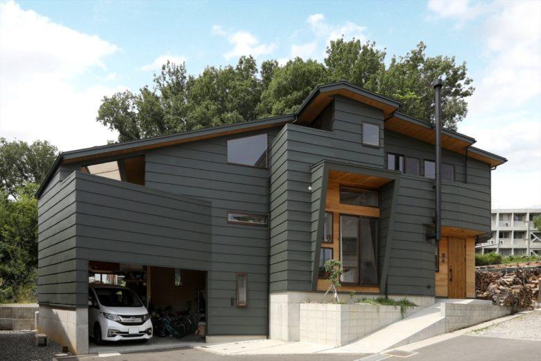 段差のある土地を有効利用、「6層構造の家」