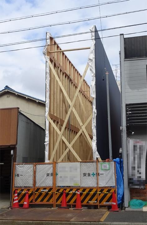狭小地に建てる(押し壁工法)